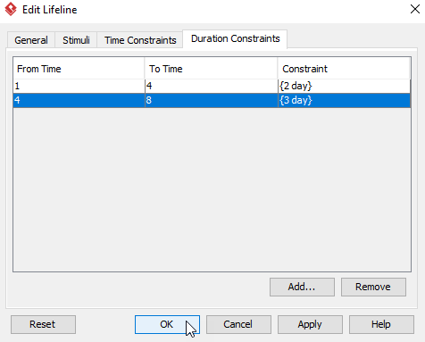 finish adding time constraint