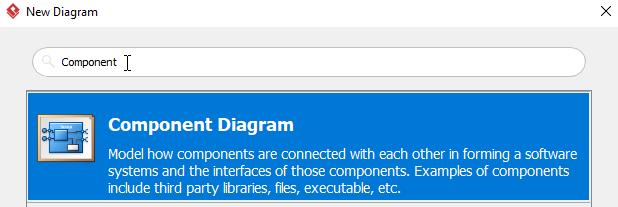 Select Component Diagram