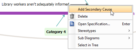 Add secondary cause