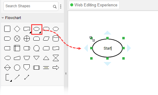 Create flowchart start symbol