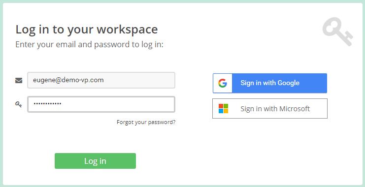 Log in Visual Paradigm Online workspace