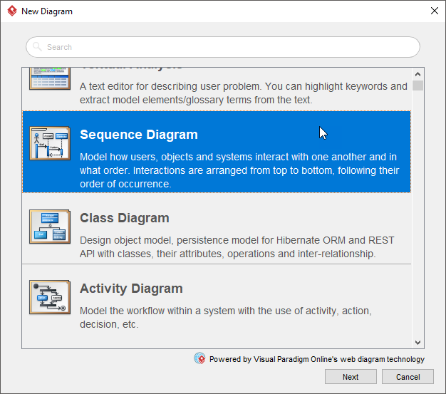Create sequence diagram